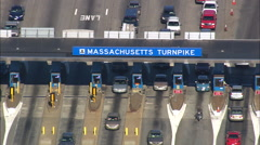 Massachusetts Turnpike Toll Booth Stock Footage