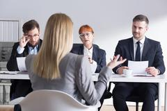 Making a good first impression can be a beginning of a career - stock photo