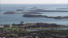 Boston From The South Stock Footage
