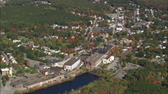 Small Towns And Landscape Stock Footage