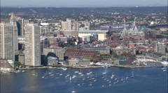 Boston In Sharp Sunslight Stock Footage