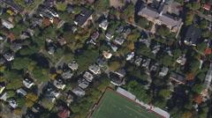 Brookline aerial Stock Footage