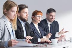 Job interview requires commitment from both sides Stock Photos