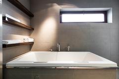 Minimalist bathroom giving a sense of purity - stock photo