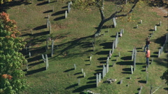 Sleepy Hollow Cemetery Stock Footage