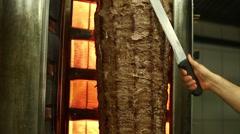Turkish Doner Kebab, Döner Kebap Stock Footage