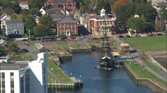 Salem Port And Customs House Stock Footage