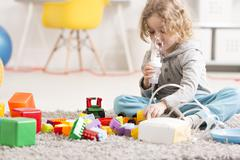 Asthmatic problems affecting his little life - stock photo