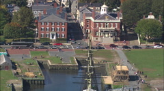 Salem aerial Stock Footage