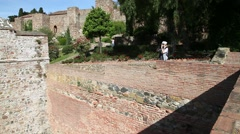 Alcazaba of Malaga Stock Footage