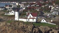Cape Neddick Lighthouse Stock Footage