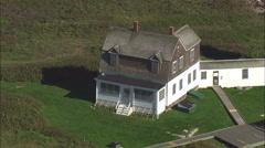 Wood Island Lighthouse Stock Footage