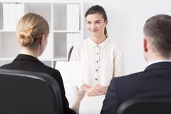 Corporation job interview - stock photo