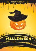 Trick or treat Halloween poster vector illustration Stock Illustration