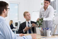 Bad atmosphere? Not in this office Stock Photos