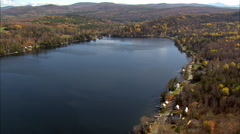 Shadow Lake And Cabins Stock Footage