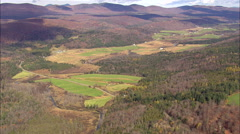 Valley And Farms Stock Footage