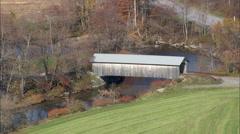 Hopkins Covered Bridge Stock Footage