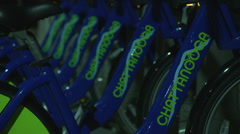 Chattanooga Tennessee Public Bikes Stock Footage
