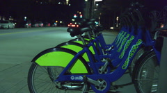 Chattanooga Tennessee Public Bikes Time-Lapse Stock Footage