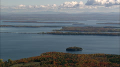 Islands In Lake Champlain Stock Footage