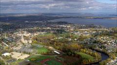 Plattsburgh aerial Stock Footage
