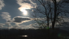 Winter Sunset Time-Lapse Stock Footage