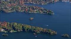Southern End Of Lake Candlewood Stock Footage