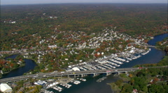 Marinas In Cos Cob Harbour Stock Footage