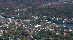 Norwalk aerial Stock Footage