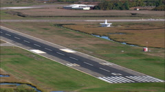 Landing At Igor I Sikorsky Memorial Airport Stock Footage