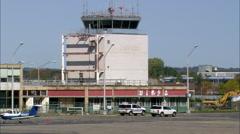 Landing At Igor I Sikorsky Memorial Airport Stock Footage