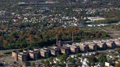 Bridgeport aerial Stock Footage