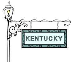 Kentucky retro pointer lamppost Stock Illustration
