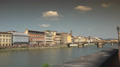 ULTRA HD 4k, Ponte Vecchio and Old Bridge in sunny day in Florence Stock Footage