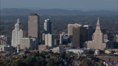 Hartford From The South Stock Footage