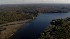 Connecticut River North Of Essex Village Stock Footage