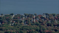 Old Lyme Shores To Niantic Stock Footage