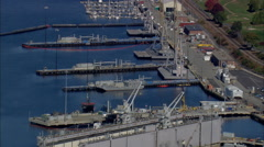 New London Naval Submarine Base Stock Footage