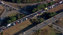 Accident And Traffic Jam On Route 93 Stock Footage