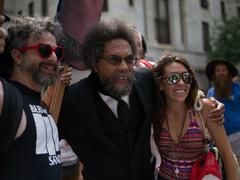 Civil Rights Author and Activist Cornel West in Philadelphia during DNC 2016 Kuvituskuvat