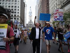 DNC 2016 Protesters in Philadelphia Kuvituskuvat
