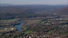 Walpole aerial Stock Footage