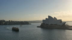 Australia Sydney Opera House with ferries time lapse Stock Footage