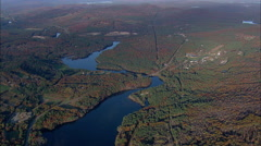 Pemigewasset River And New Hampton Stock Footage