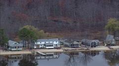 Houses Around Lake Stock Footage