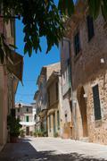Street view in Alcudia Mallorca Spain Stock Photos