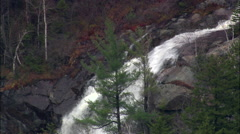 Falls In Crawford Notch State Park Stock Footage