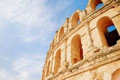 El Djem amphitheatre, the most impressive Roman remains in Africa. Mahdia, Tu Stock Photos