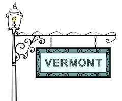 Vermont retro pointer lamppost Stock Illustration